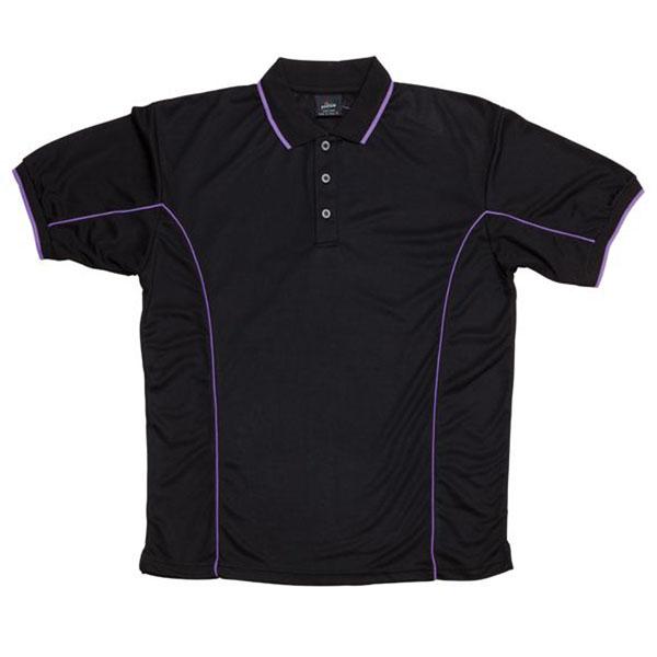 7pip black purple work smart uniforms australia buy online for Purple polo uniform shirts