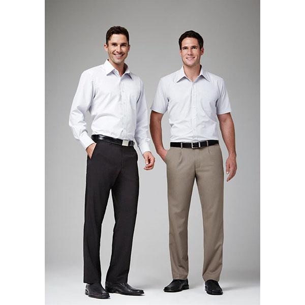 Biz Mens Pleat Front Pant Bs29110 Work Smart Uniforms Australia