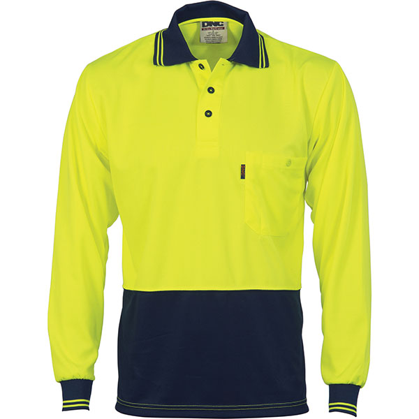 3813 yellow navy work smart uniforms australia buy online for Custom hi vis shirts