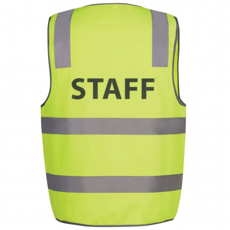 Hi Vis D+N Safety Vest Security/Staff/Visitor 6DNS