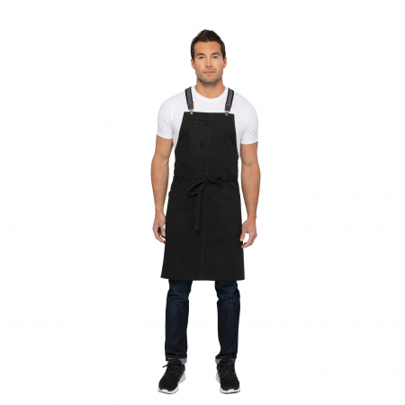 Berkeley Bib Apron - Jet Black