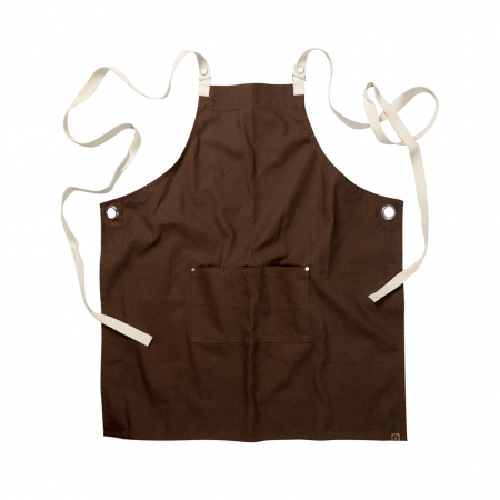 Byron Cross-Back Apron - Brown