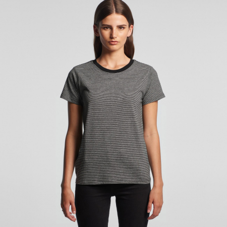 WOMEN'S LINE STRIPE TEE - 4041