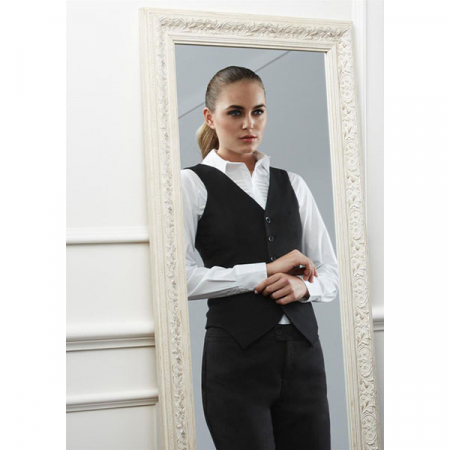 Sale- Biz Peaked Vest with Knitted Back - 50111