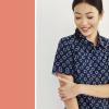 NEW Womens Daisy Print S/S Shirt - CS948LS