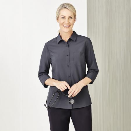 NEW Womens Plain 3/4 Sleeve Shirt - CS951LT