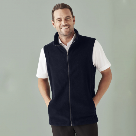 MENS PLAIN MICRO FLEECE VEST - F233MN